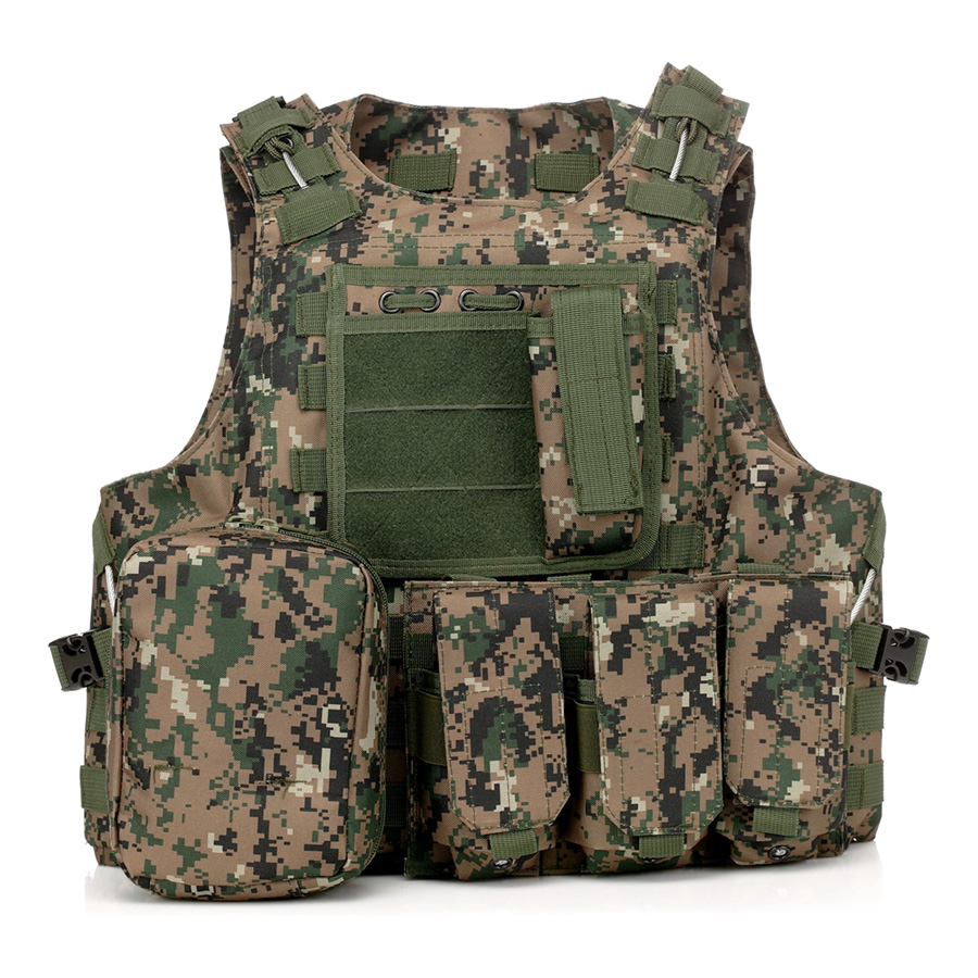 020 Tactical Vest Digital Woodland Camo 1