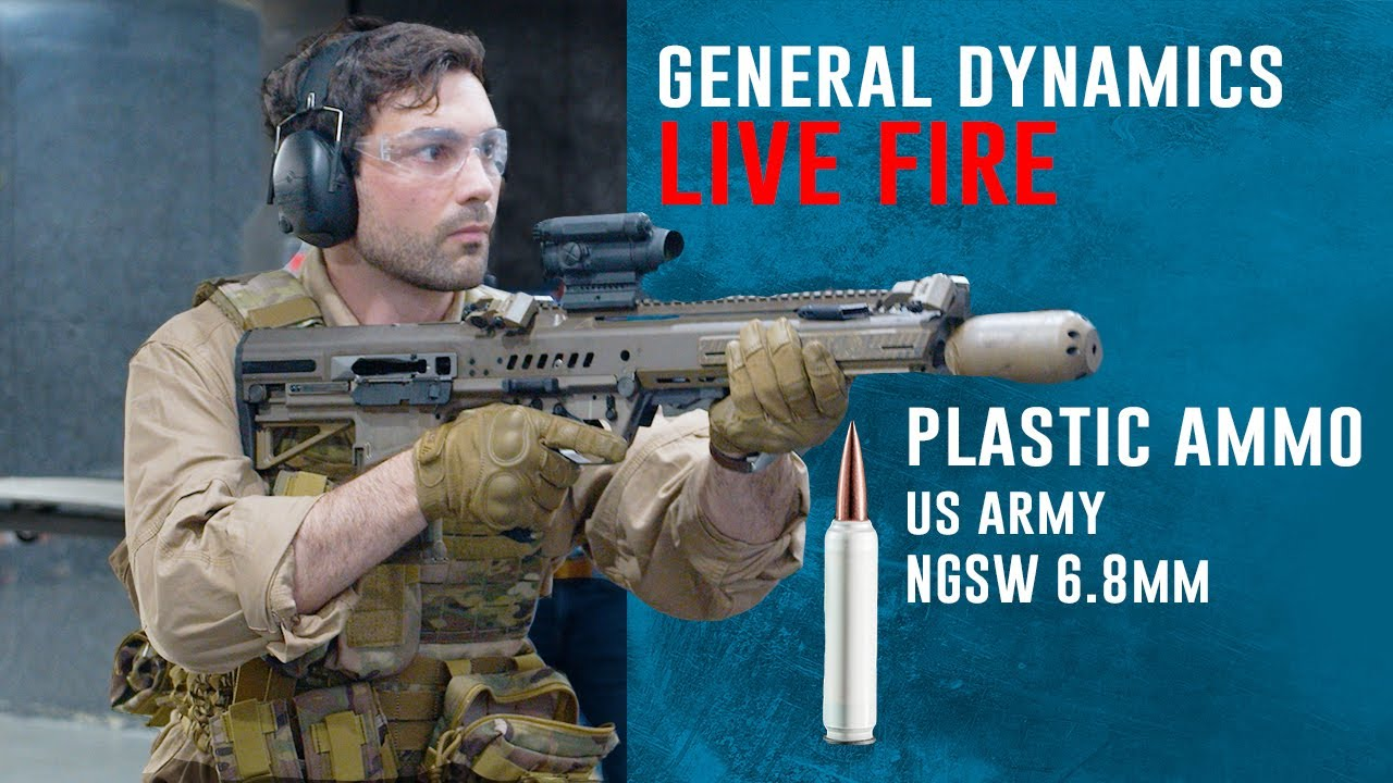 General Dynamics NGSW 6.8mm Plastic Ammo Live FIRE